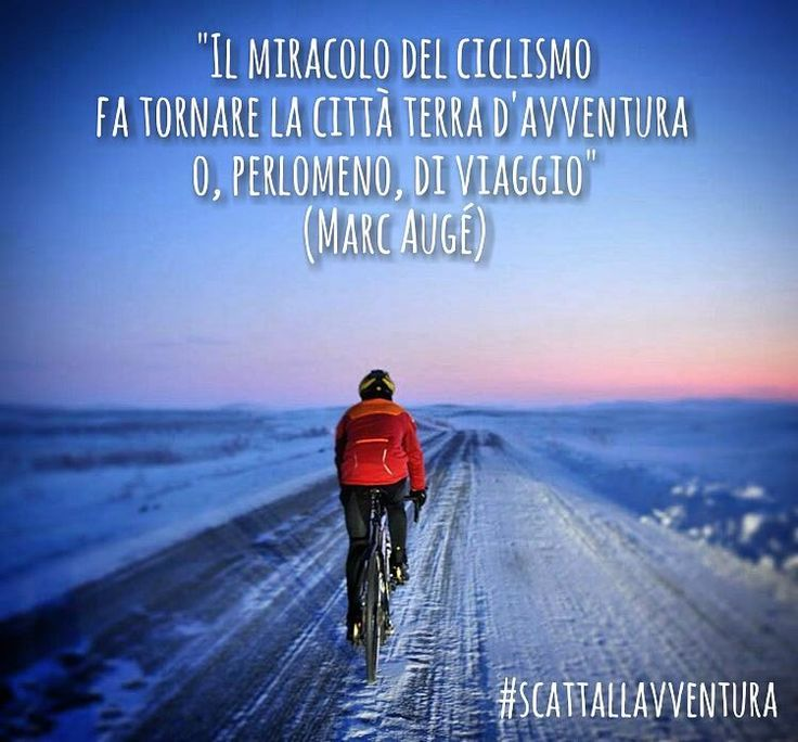 """Il miracolo del ciclismo fa tornare la città terra d'avventura o perlomeno di viaggio"" (Marc Augé)  Hashtag #scattallavventura  #adventure #adventures #bycicle #ciclismo #sport #avventura #viaggio #travelphotography #travelphotos #travel #photographers #photo #photooftheday #picoftheday #outdoors #outdoor #snow #neve #street #streetphoto #streetphotography #photograph #bicicletta #naturelovers #nature  Photo by @omardifelice  With @matteoratini and @redblond_marydimauro"
