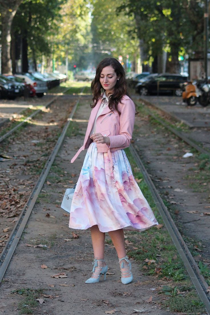 Un look candy per la Milano Fashion Week