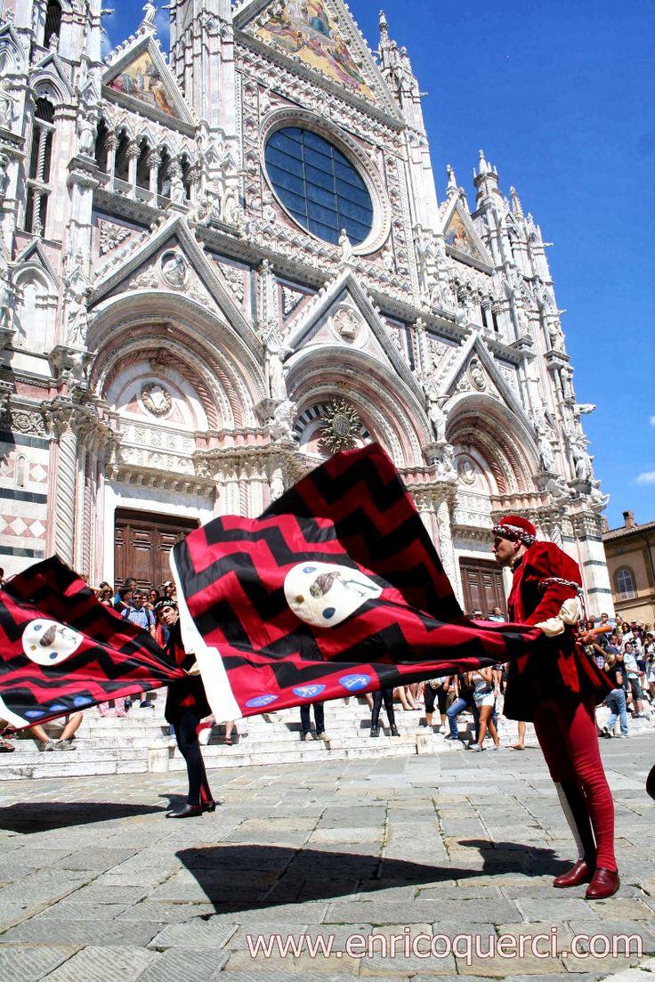 Palio di Provenzano 2013: Contrada della Civetta in Piazza del Duomo