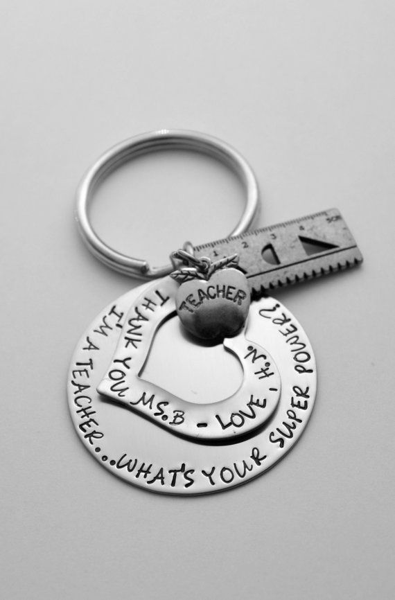 Teacher key chain - Teacher gift - Teacher gift - Teacher key chain - Teachers Rule - Teacher's aide gift - Back to school gift on Etsy, $32.00