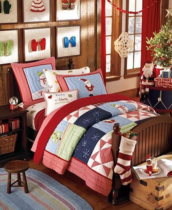 Kids Bedroom : Christmas Bedroom Decoration Ideas For Kids With Elegant  Interior Ornamented With Framed Gloves Part 73