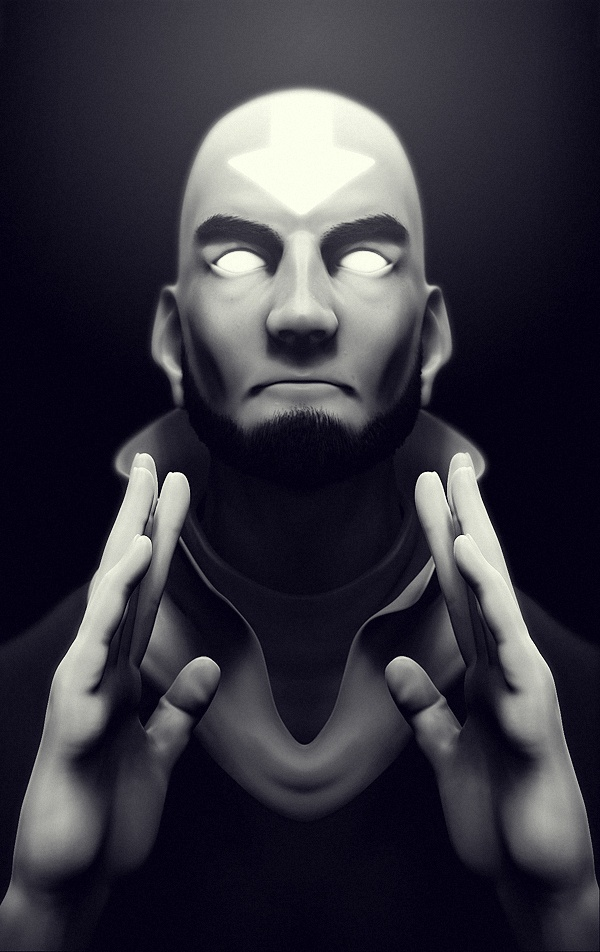 3D model... or drawing? of Aang. amazing work.