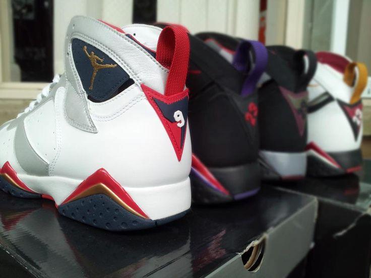 Air Jordan 7, Olympic, Raptor, Bordeaux & Cardinal