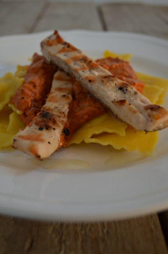 Ravioli with Chicken and Sundried Tomato