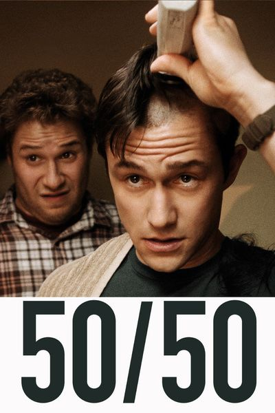 50/50 (movie), young single man encounters cancer with a 50/50 chance of survival -- funny, moving, sad, hopeful -- WONDERFUL