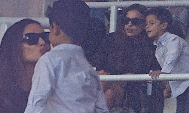 Irina Shayk shares adorable moment with Ronaldo's son at Madrid match