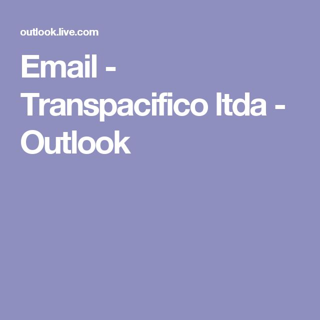 Email - Transpacifico ltda - Outlook