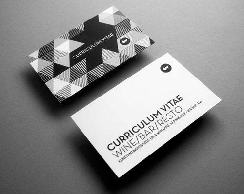 50 Beautiful Black and White Business Cards - CrazyLeaf Design Blog
