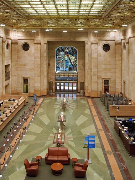 The Gulf Building Houston Texas Banking Hall Interior