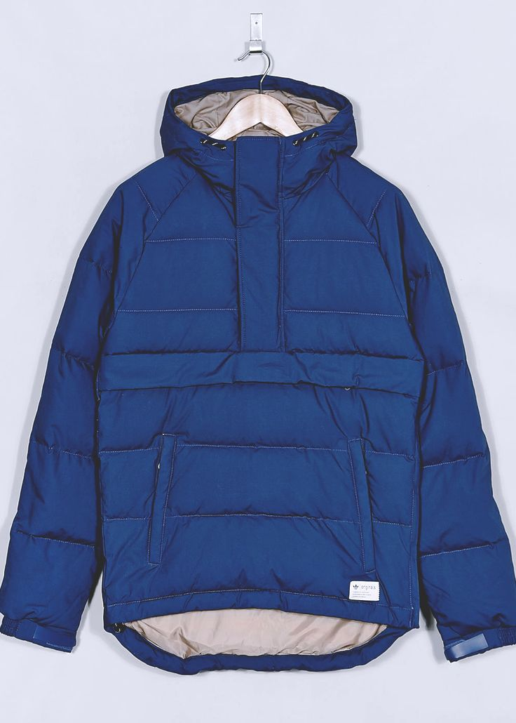 adidas Originals Blue Overhead Down Parka