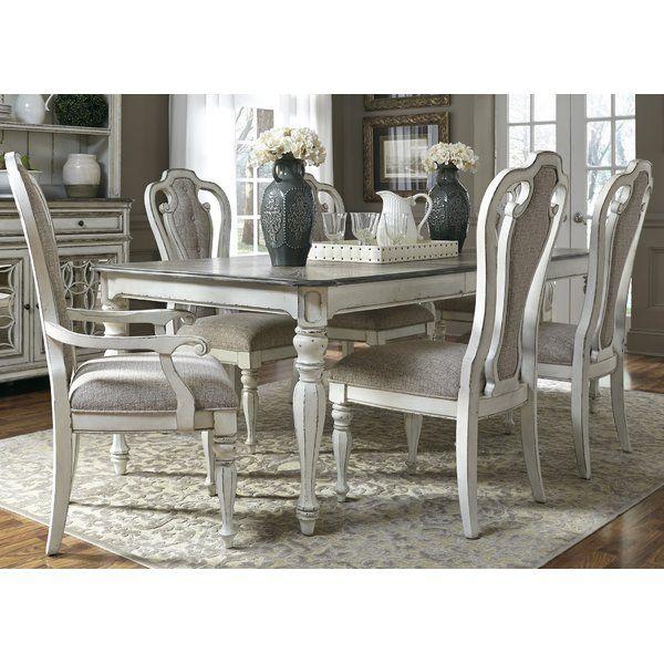 Tiphaine 7 Piece Extendable Dining Set Rectangular Dining Table Dining Room Sets Dinette Sets
