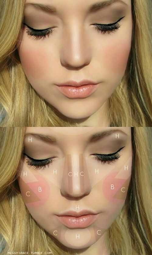 Highlight and contour - Click image to find more makeup posts