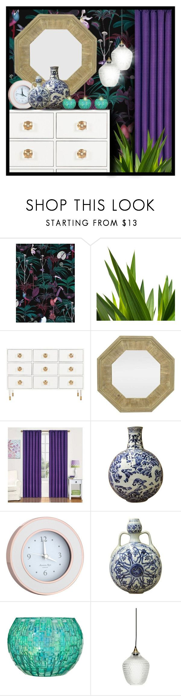 """""""Dark Walls"""" by suzanne228 ❤ liked on Polyvore featuring interior, interiors, interior design, home, home decor, interior decorating, Witch & Watchman, Three Hands, Eclipse and Addison Ross"""