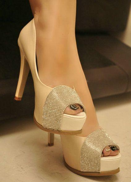 Ladies elegant rhinestone open toe platform ultra high heels open toe single shoes princess womens shoes