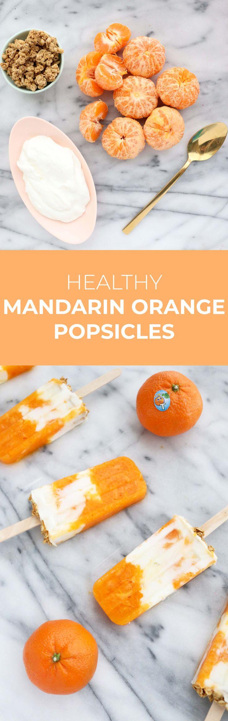 Healthy mandarin orange cream popsicle recipe
