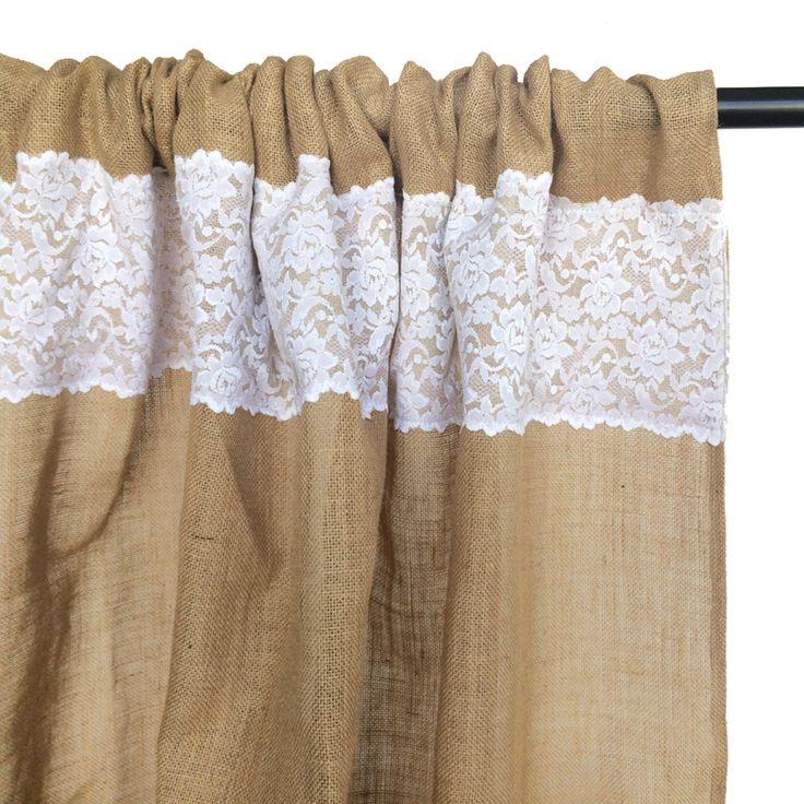 Mejores 172 im genes de cortinas de arpillera curtains - Cortinas de arpillera ...