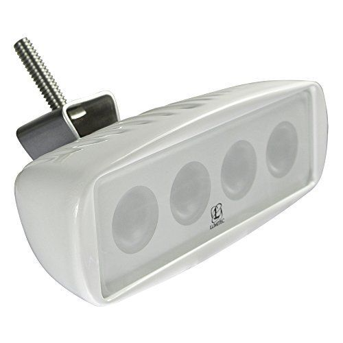Standard equipment on more top tier boats than any other LED flood light * Small in size (40% smaller than comparable lights) low power consumption (80% less current draw than a 55W Halogen) * Powder coated die cast aluminum housing is salt-spray tested to 3,000 hr * Completely sealed and IP67 compliant * (Placed within the Amazon Associates program) * 09:53 Mar 10 2017