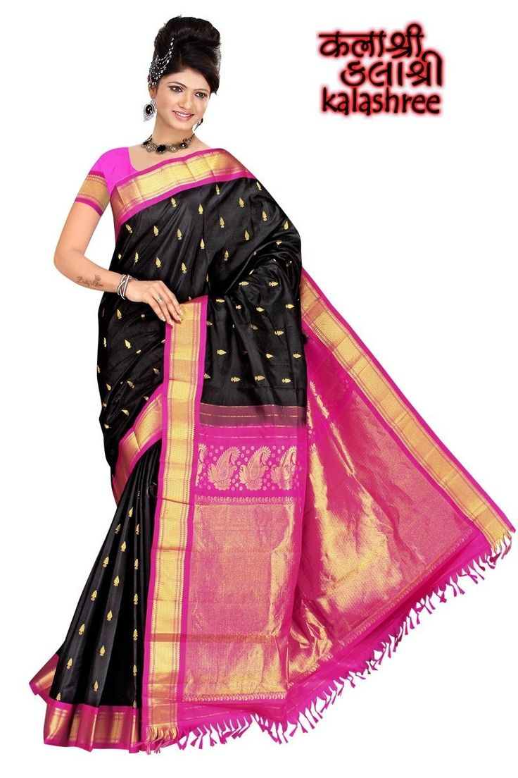 Black & Pink Paithani