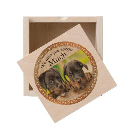 #Black Rottweiler cute puppy dogs with sad faces Wooden Keepsake Box - #rottweiler #puppy #rottweilers #dog #dogs #pet #pets #cute