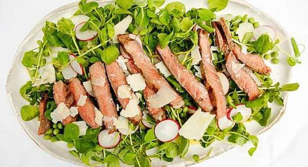 BBQ recipes: Lisa Faulkner's steak tagliata with a pea shoot salad for London's heatwave weekend - Independent Print Limited