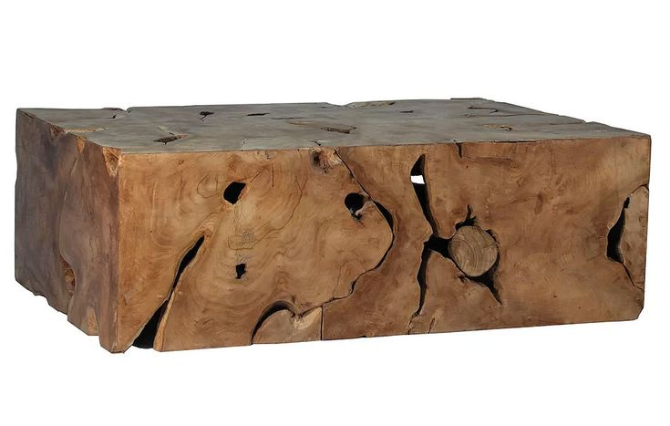 Slice Salvaged Teak Wood Coffee Table