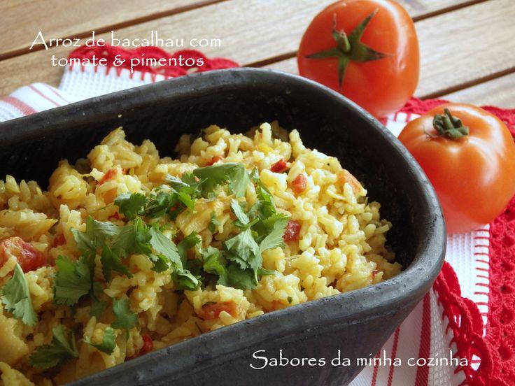 Arroz de bacalhau com tomate e pimentos   SAPO Lifestyle