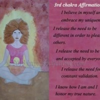 Affirmations for the third/solar plexus chakra
