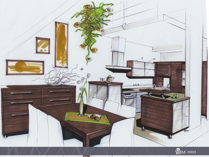 2003 Interior Sketches by Jan Maca at Coroflot.com