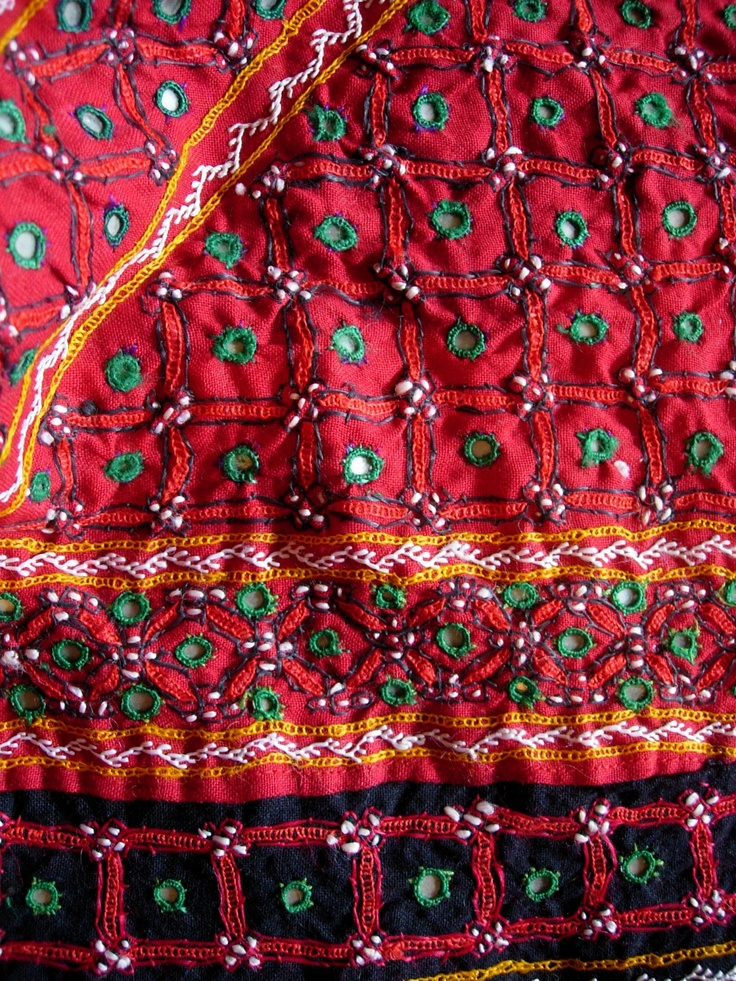 Indian Embroidered Sarees: Fine Shisha Embroidery From Mutwa Community