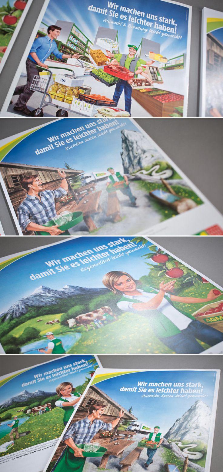 AGM // Imagekampagne www.lunik2.com #graphicdesign #design #illustration #agm #rewe #befirst