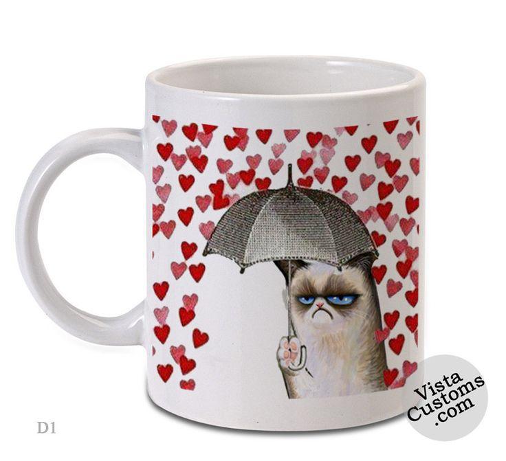grumpy cat Love Umbrella, Coffee mug coffee, Mug tea, Design for mug, Ceramic, Awesome, Good, Amazing