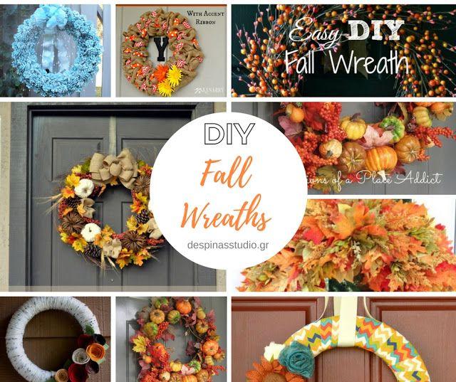 DIY Fall Wreath tutorials / DIY Φθινοπωρινά Στεφάνια με οδηγίες by Despinas Studio