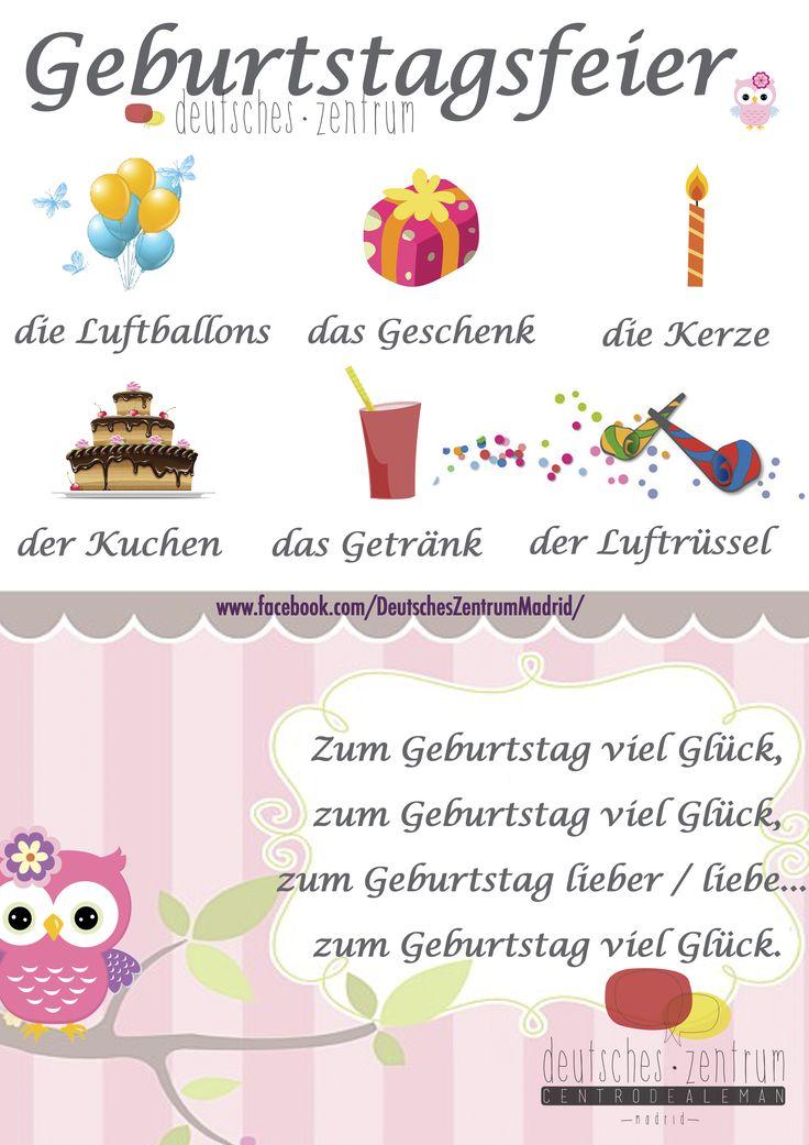 Geburtstag Deutsch Wortschatz Grammatik German Alemán DAF Vocabulario