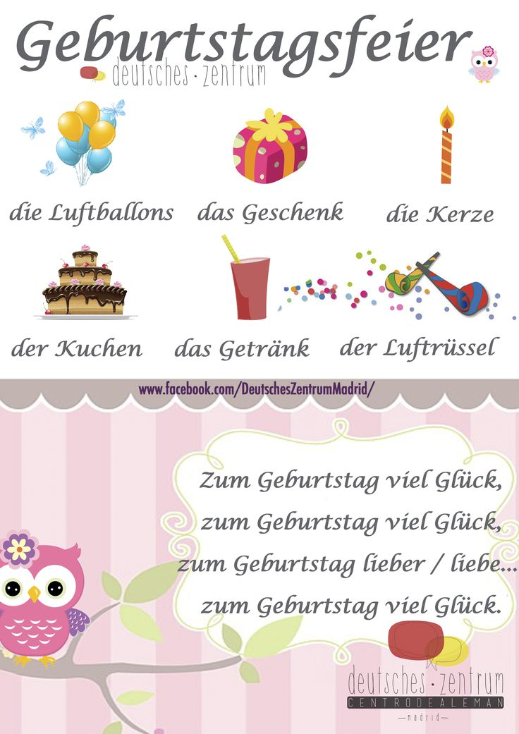 Geburtstag Deutsch Wortschatz Grammatik German Alemán DAF Vocabulario