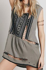 With Bead Hollow Embroidered Dress