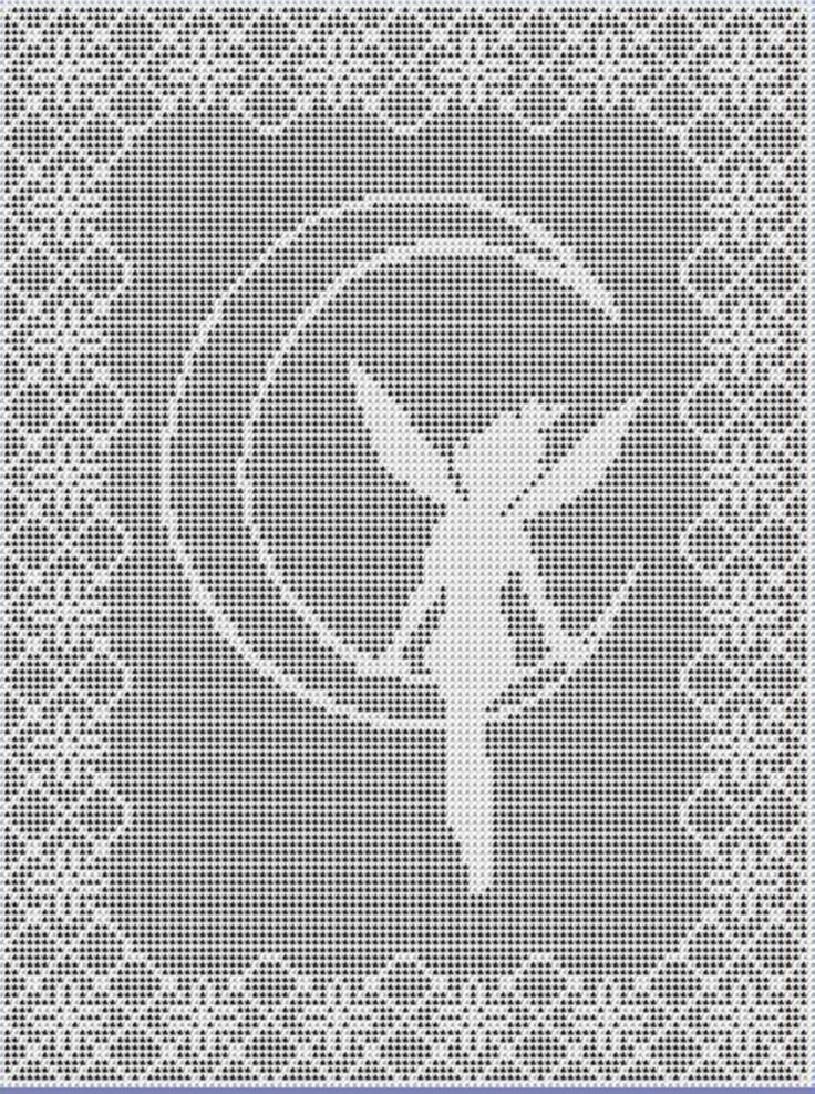 Moon Fairy Filet Crochet Pattern Chart and 50 similar