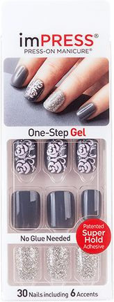 imPRESS Gel Nails With Glitter Accents  - Pop Star