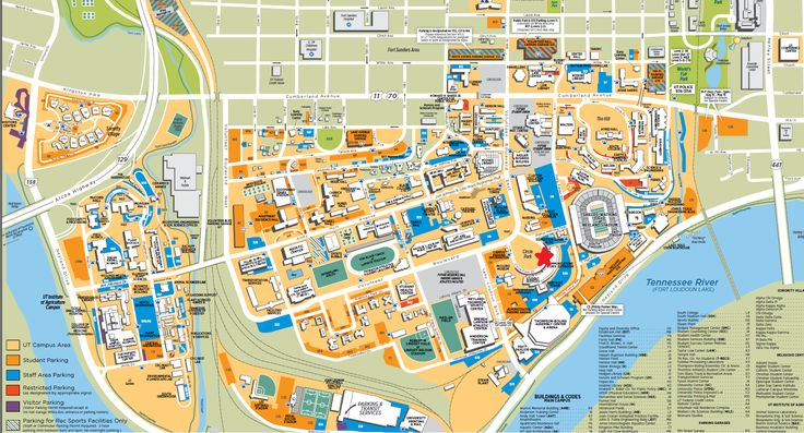 UT Knoxville's Campus Map