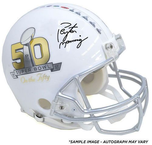 "PEYTON MANNING Autographed Super Bowl ""On The 50"" Proline Helmet FANATICS - Game Day Legends"