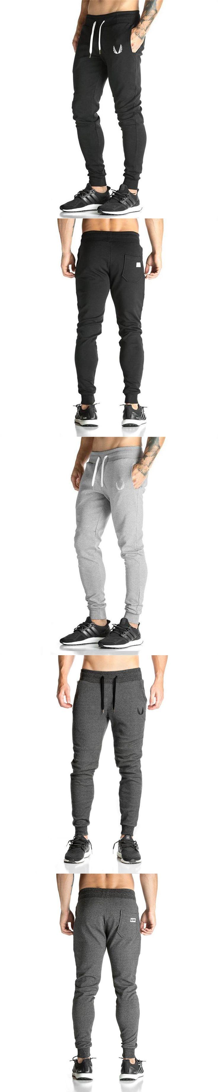 Men Sweatpants 2017 Men Pants Elastic cotton Mens Fitness Workout Pants skinny Trousers Jogger Pantalon Homme Gyms Clothing XXL