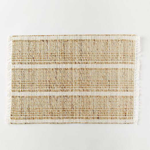 KITCHEN/ Striped Natural Placemat Set | west elm