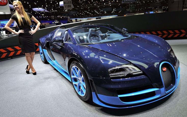 """Geneva Motor Show 2012 in pictures: Bugatti Veyron Grand Sport VitessePicture: FABRICE COFFRINI/AFP/Getty Images"""