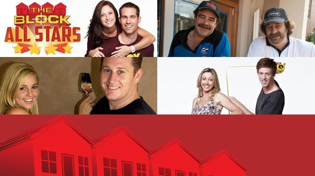 The returning Blockheads (clockwise): Dani and Dan, Mark and Duncan, Josh and Jenna, Amity and Phil.