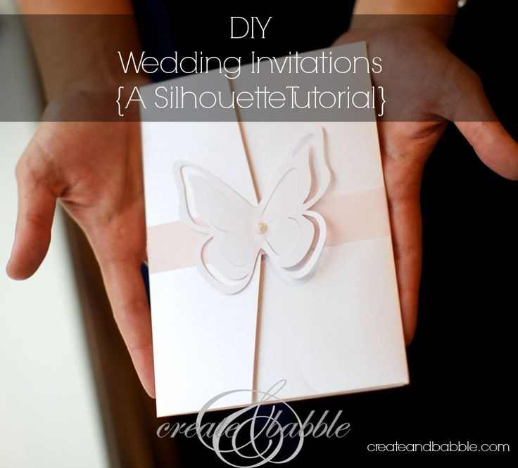 DIY Wedding Invitations {Silhouette Tutorial} I like the butterfly we could use a flower instead.