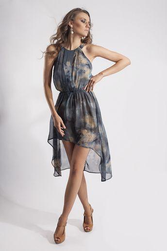 Vestido azul oscuro pasaje