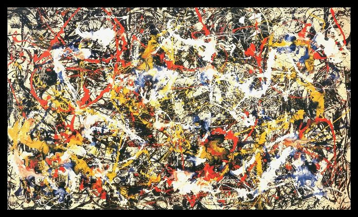NEW Amanti Art Jackson Pollock Convergence Framed Print AA114402