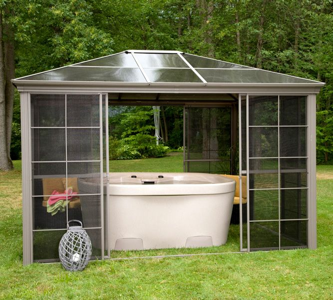 1000 images about deco spas hot tub on pinterest for Club piscine liquidation gazebo
