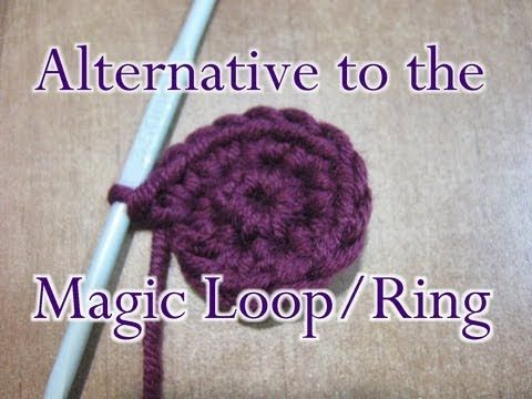 #Crochet #Tutorial - Chain Two 2 Method - Alternative to the Magic Loop / Ring.  I have always used this method and find it much neater and easier than the magic loop. There's no hole in the middle when you pull the thread end to close it up!