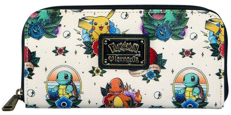 Loungefly Pokemon Go Pikachu Squirtle Bulbasaur Pokeball Zip Wallet – moodswingsonthenet