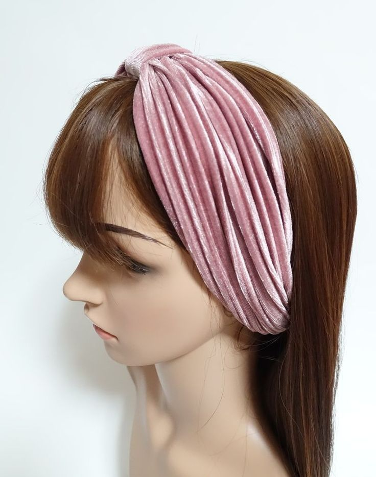 Pleat Velvet Hair Turban Fashion Headband Women Hair Accessories  #VeryShine…